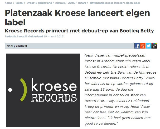 Bootleg Betty Kroese Records