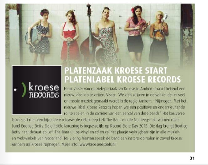Bootleg Betty & Kroese Records in PlatoMania